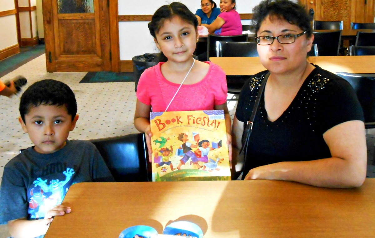 The Castellanos Family at Joliet Public Library