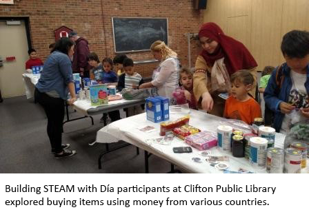 image of Building STEAM with Día participants at Clifton Public Library