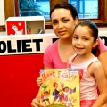 Adrianna Figueroa de Trejo and Barbara Trejo at Joliet Public Library